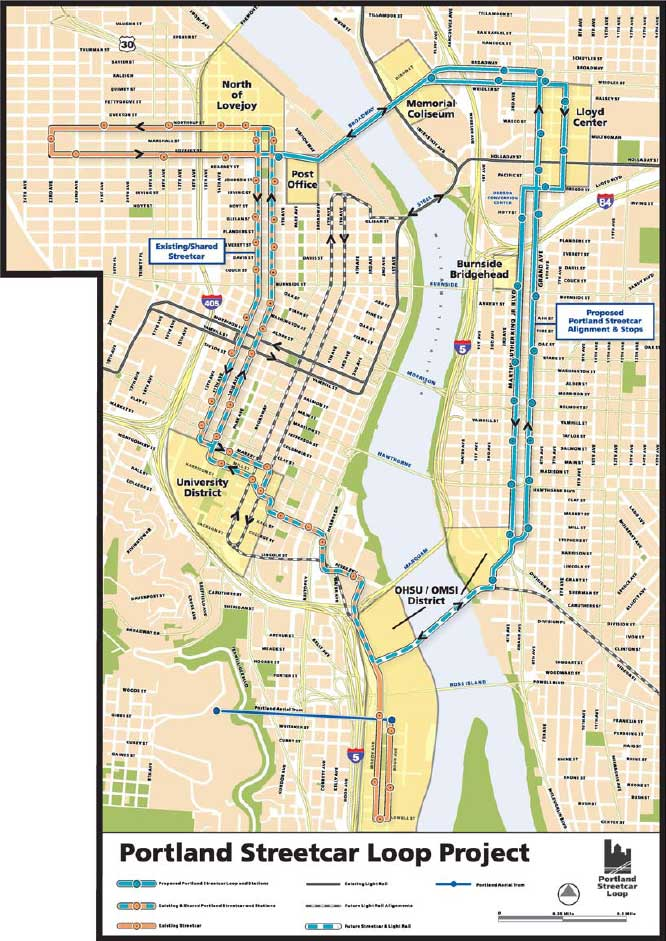 eastside-portland-streetcar-alignment
