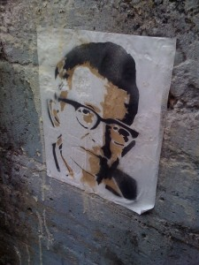 Only in Portland could young Noam Chomsky be featured as street art.